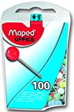 Maped Map Pins in Dispenser Case, Assorted Colors, Pack of 100 (346011ZC)