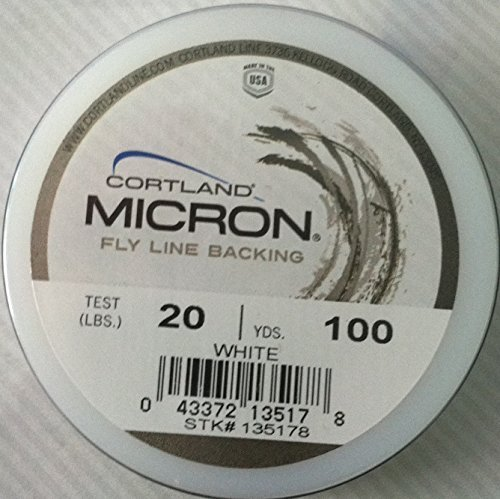 (Cortland Micron Fly Line Backing 20lb 100yrds White by Cortland)