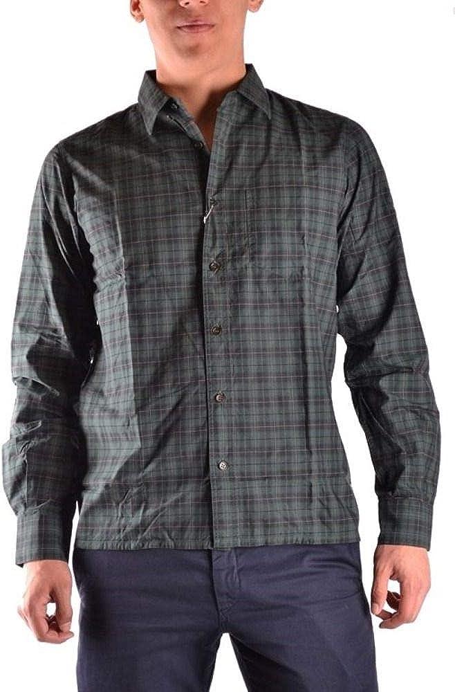 Raf Simons Luxury Fashion Mens MCBI10338 Green Shirt Season Outlet