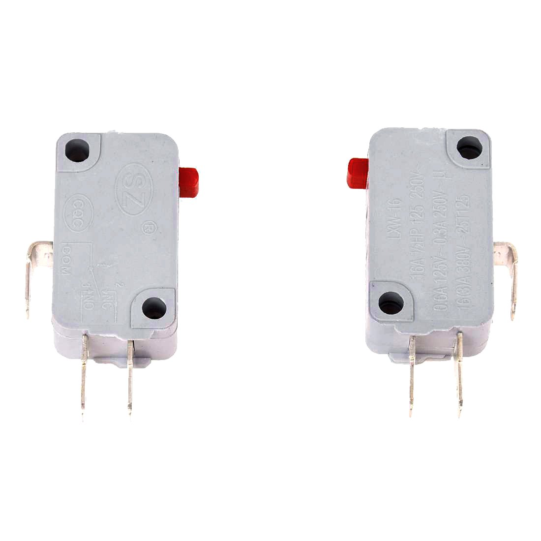 TOOGOO(R) 250VAC 16A SPDT 1NO 1NC 3P Limit Microswitch for Rice Cooker Pack of 2