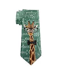 Giraffe Geek Math Formulas All Over Neck Tie Multi Standard One Size