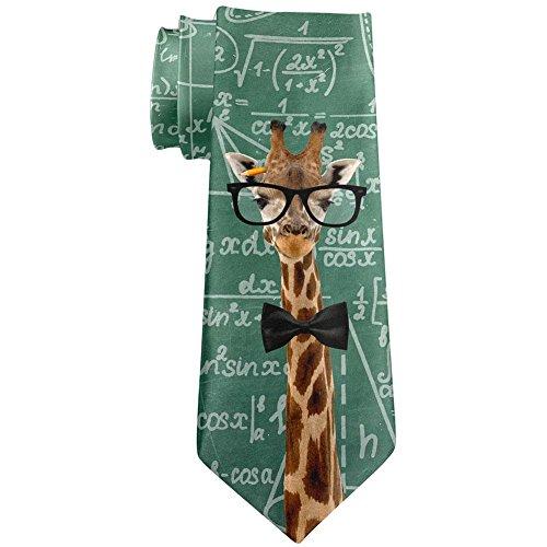 Giraffe Geek Math Formulas All Over Neck Tie Multi Standard One Size Neck Tie Design