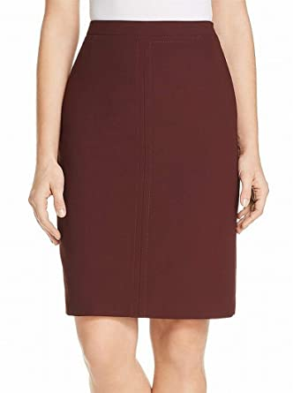 723fe5aae443 Hugo Boss Women s Seam Side-Zip Straight Pencil Skirt Red 2 at ...