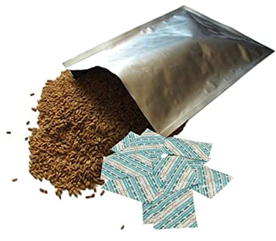 Dry-Packs 10 5 Gallon Mylar Bags and 10-2000cc Oxy-Sorb Oxygen Absorbers for Dried Dehydrated and Long Term Food Storage