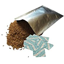 Dry-Packs 10-5 Gallon Mylar Bags and 10-2000cc OxySorb Oxygen Absorbers for Dried Dehydrated and Long Term Food Storage