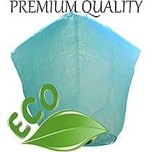 Just Artifacts Premium Quality ECO Wire-Free Flying Chinese Sky Lanterns (Set of 20, Diamond, Blue) - Topnotch Flight, 100% Biodegradable, Environmentally Friendly Lanterns!