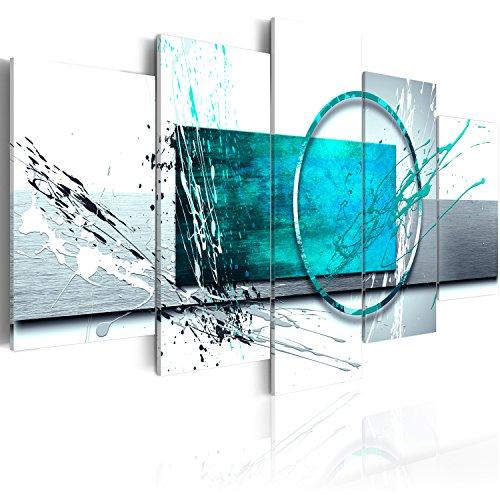 Bilder - 3 Farben zur Auswahl ! Fertig Aufgespannt TOP Vlies Leinwand - 5 Teilig - Abstrakt Wand Bild Bilder Kunstdrucke Wandbild a-A-0012-b-p 100x50 cm B&D XXL