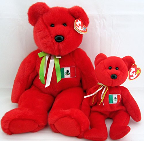 Ty Beanie Buddy & Baby Bear Set - Osito Mexican Teddy - Mexican Bear