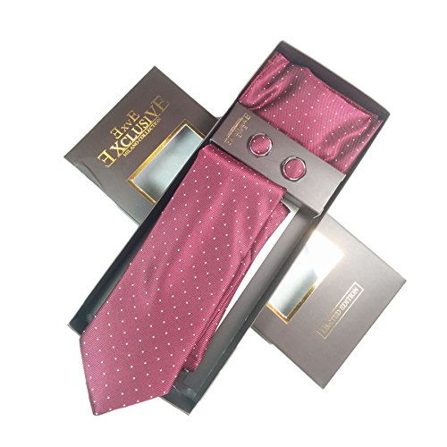 Purple Polker Box Set Dots Fashion Business William amp; Designs By TUR3 Handkerchief Wedding Included White Charles and Cufflink Sets Different 23 Set Milano Tie Gift Exclusive vSf1w1q