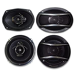 "2) Pioneer TS-A1676R 6.5"" 3-Way + 2) Pioneer TS-A6966R 6X9 3-Way**PIONEER CAR SPEAKER PACKAGE"