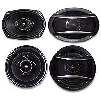 2) Pioneer TS-A1676R 6.5 3-Way + 2) Pioneer TS-A6966R 6X9 3-Way**PIONEER CAR SPEAKER PACKAGE