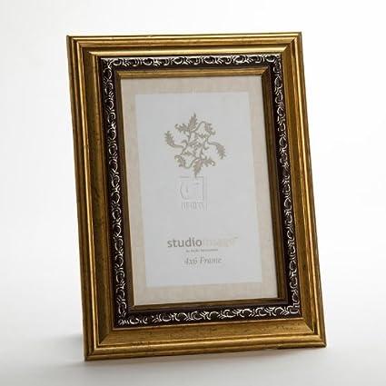 Amazon.com - Philip Whitney 5x7 Beveled Gold Leaf Wooden Photo ...
