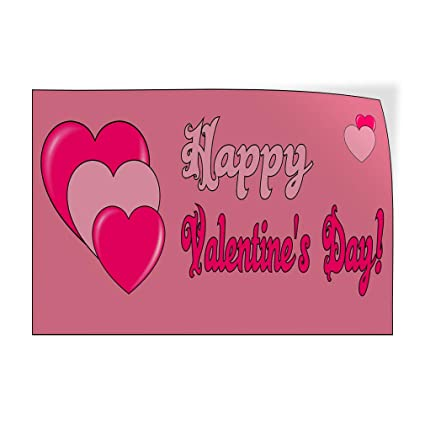 f90f8341576 Image Unavailable. Image not available for. Color  Decal Sticker Happy Valentine s  Day Pink ...