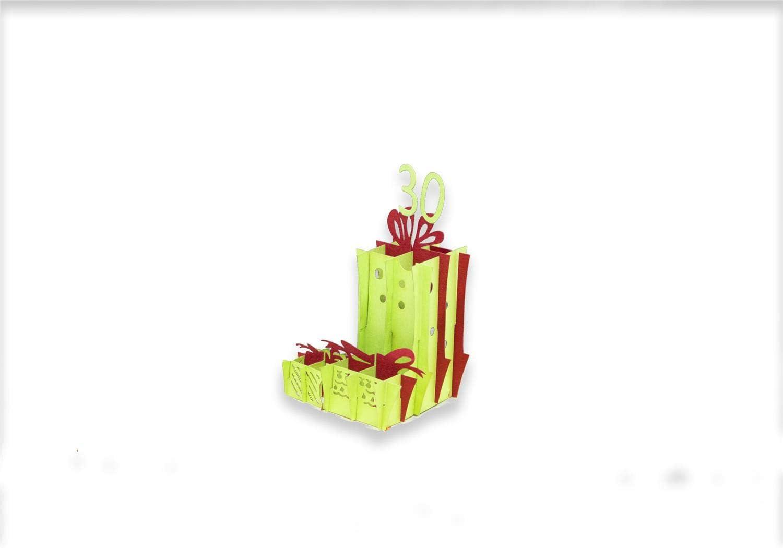 Auguri 30 Anni Biglietto di Auguri con Origami