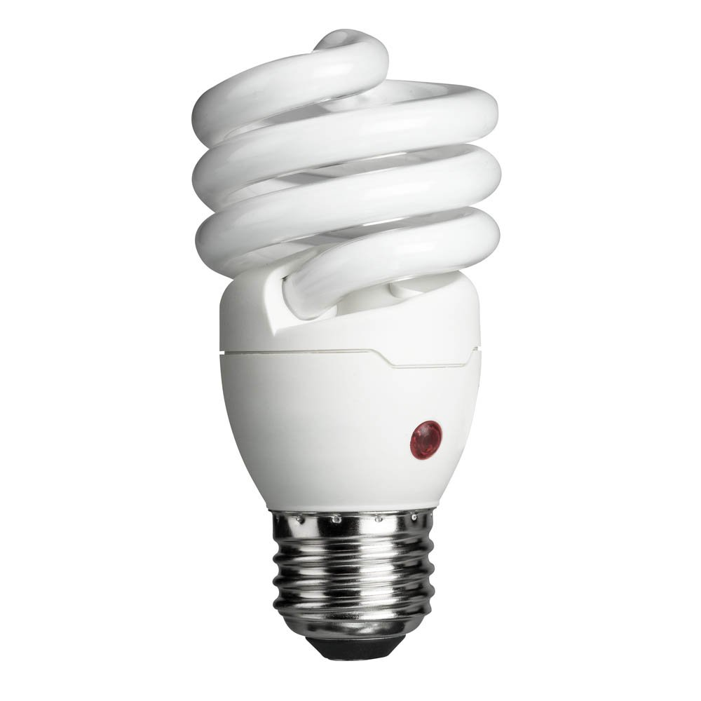 Philips Energy Saver Dusk-to-Dawn Compact Fluorescent Twister A19 Light Bulb: 900-Lumen, 2700-Kelvin, 14-Watt (60-Watt Equivalent), Medium Base CFL, Soft White by Philips (Image #1)