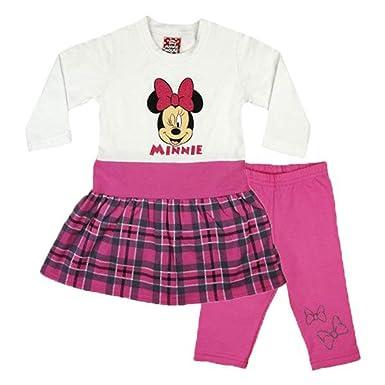 c3ca0bbfe3 Minnie Mouse Mädchen Baby Kleid Set Thermo-Leggings Warme Hose und Warmes  Kleid Baumwolle in