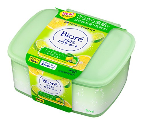 japanese-facial-sheet-biore-aroma-body-36-sheets-of-powder-sheet-pure-fresh-citrus-rustling