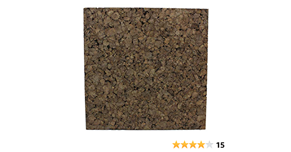Frameless Dark Brown Cork Squares 12 x 12 0.38 Pack of 16 Squares