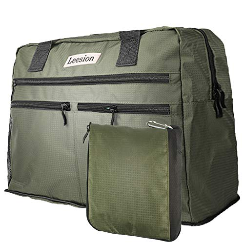 Leesion Duffel Bag Folding Travel Bag for Men and Women Gym Bag Sports Waterproof Portable Luggage Bag