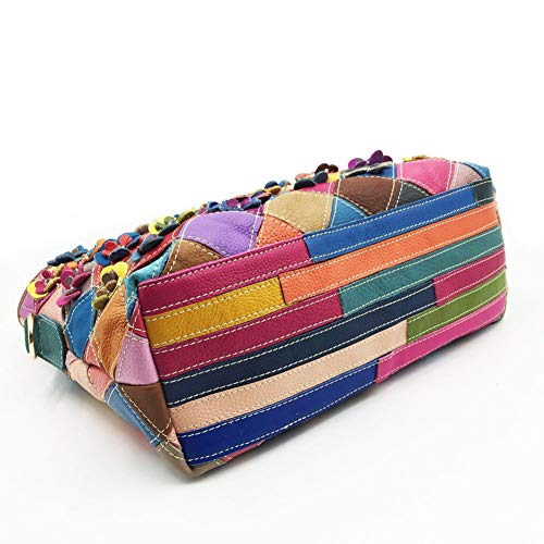 Fiore az Messenger 21x11x19cm Bag 8x4x7inch creativo Bi Impunture Squisito Bag Shoulder Donna Pelle One spalla EzqZnUPx1