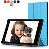HD 10 Case Protector All Fire HD 10 Tablet(7th Generation,2017 Release) - Ultra Lightweight Protective Slim Stand Smart Cover Auto Sleep/Wake Kindle Fire HD 10.1 Inch Tablet Blue