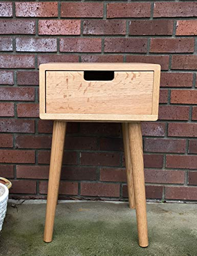 Nightstand Wood Modern with Drawer by CW Furniture Side Table End Table Walnut Maple Oak Birch Custom Handmade…