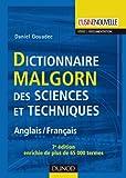 Dictionnaire Malgorn des sciences et techniques - 7ème édition - Anglais/Français