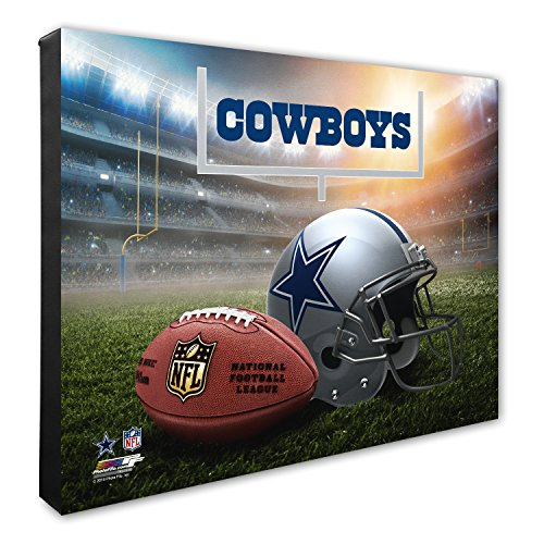 Photo File NFL Dallas Cowboys Helmet & Stadium High Resolution Canvas, 20