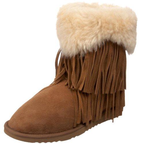 Koolaburra Women's Haley Fur Fringe Boot