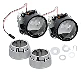 Nilight 2.5' Mini HID Bixenon Projector Lens for H1 Bulb Car Gift:chrome Shround