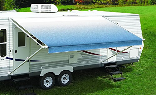 Carefree Rv Awning Rafter (Carefree RV EA169A00 RV Trailer Fiesta Vinyl 16' Checkered Flag White - White Wg)
