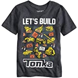 Jumping Beans Toddler Boys 2T-5T Let's Build Tonka Graphic Tee 5T Charcoal Heather