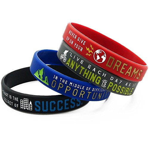 Inspirational Bracelets with Motivational Sayings -Anything is Possible, Success, Dreams, Opportunity by Inkstone (Image #2)