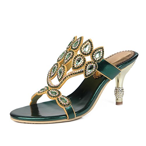 Flops amp; Flip A Slippers Casual Women's Dress for Rhinestone Summer Party Glitter Sandals Evening amp; Shoes Comfort HUAN 7vxqAPx