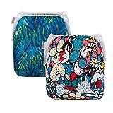 ALVABABY Swim Diapers 2pcs Reusable & Adjustable