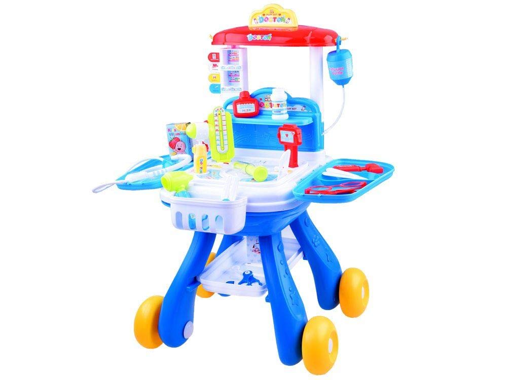 JD TOYS Trolley Doctor Medical Set Accessories Pretend Game for Kids +3