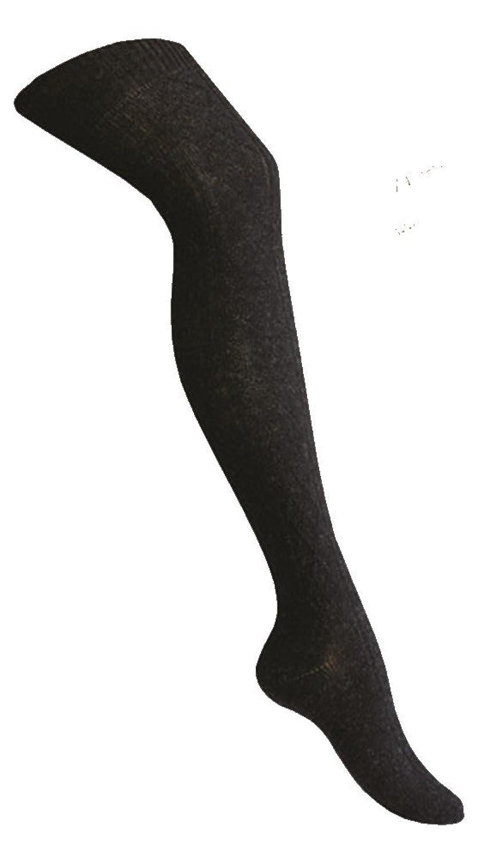0fb027727a4bb5 1 Paar Damen Angora Overknee Overknees Rippe Winter Strümpfe, schwarz  anthrazit grau weiß von Art