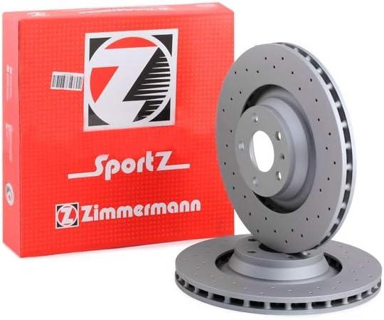 Zimmermann 100 3319 52 Bremsscheibe Scheibenbremsen Bremsscheiben X2 Auto