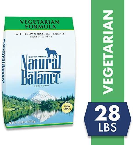 Natural Balance Vegetarian Dry Dog Food, Brown Rice, Oat Groats, Barley Peas, Vegan