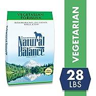 Natural Balance Vegetarian Formula Dry Dog Food, Brown Rice, Oat Groats, Barley & Peas, 28 Pounds, Vegan