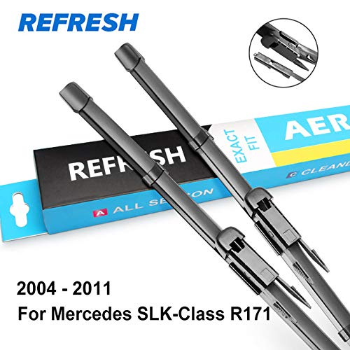 Occus Wipers OCS Wiper Blades for Mercedes Benz SLK Class R170 R171 R172 from 1996 to 2016 SLK 200 250 300 350 55 AMG CDI - (Color: 2004-2011 (R171))