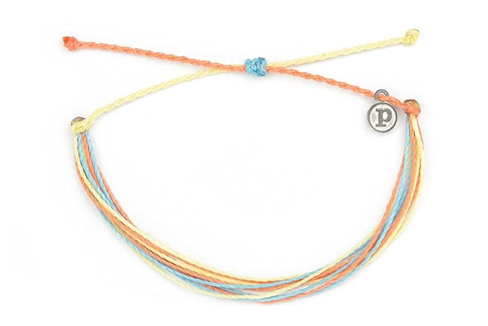 Pura Vida Anklets - with Charm 100% Waterproof, Wax-Coated - with Iron-Coated Accessories 841696101677