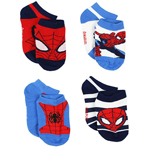 Spider-Man Boys 4 pack Socks (4T-5T, Spider-Man - Superhero Socks Men