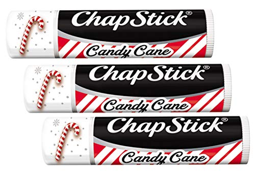 (ChapStick Candy Cane Pack of 3 - NEW DESIGN)