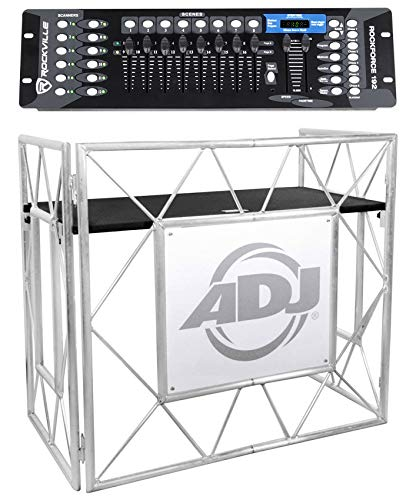 American DJ Pro Event Table II Foldable DJ Booth Truss Facade + DMX Controller