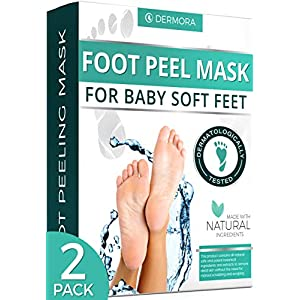 Foot Peel Mask – 2 Pack – For Cracked Heels, Dead Skin & Calluses – Make Your Feet Baby Soft & Get a Smooth Skin