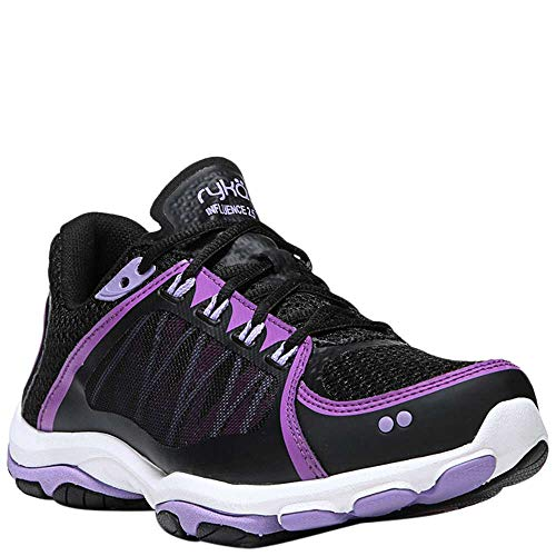 Ryka Women's Influence 2.5 Cross Trainer, Black/Meteorite/White, 8 M US