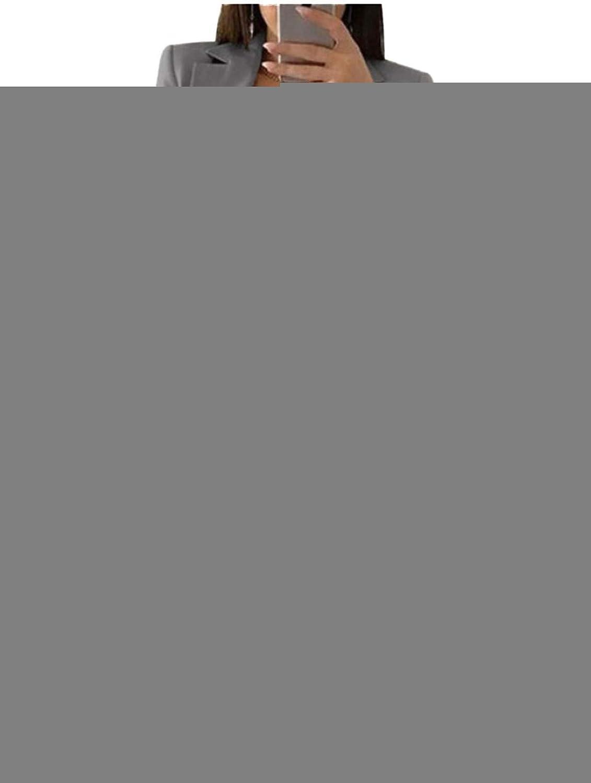 JIER Damen Elegant Langarm Blazer Sakko Einfarbig Business Slim Fit Revers Gesch/äft B/üro Jacke Cardigan Kurz Mantel Anz/üge Bolero mit Tasche