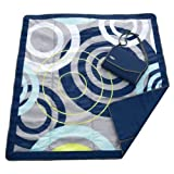 JJ Cole Outdoor Blanket, Blue Orbit, 5' x 5' by JJ Cole