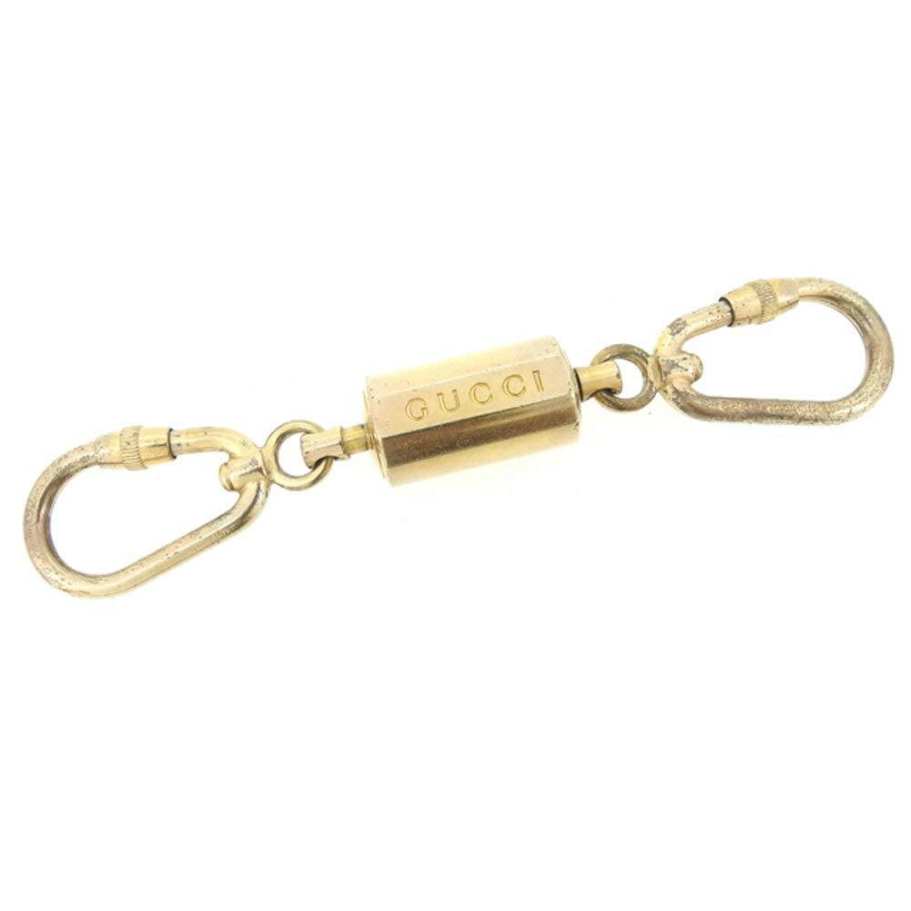 (グッチ) Gucci キーリング キーホルダー ゴールド ロゴ レディース メンズ 中古 C3288   B07HMXV671